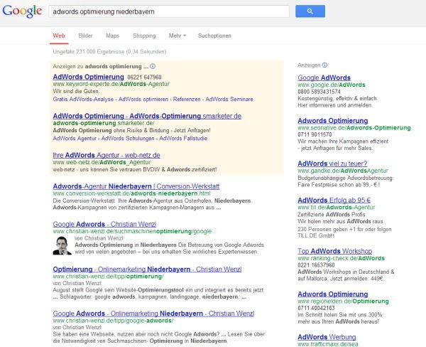 Autorenbild bei Google Suchergebnissen