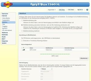 LTE und DSL mittels Fritzbox